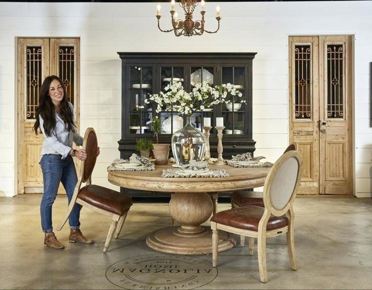 Magnolia Home Keeping Dining Tables Inside Popular Magnolia Home Dining Table Reviews Leaf Carvedliving Spaces (View 14 of 20)