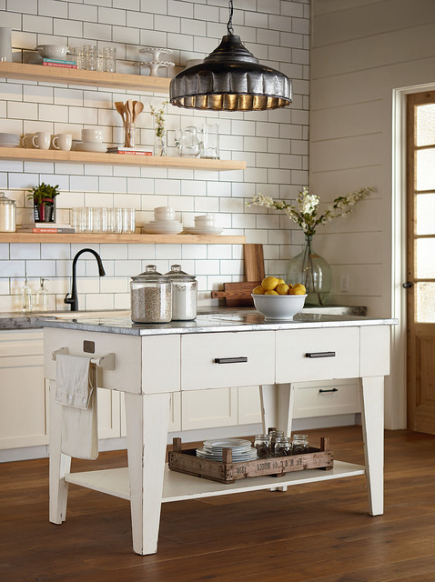 Magnolia Home – Kitchen Island – Jo's White – Country – Kitchen With Regard To Recent Magnolia Home White Keeping 96 Inch Dining Tables (View 8 of 20)