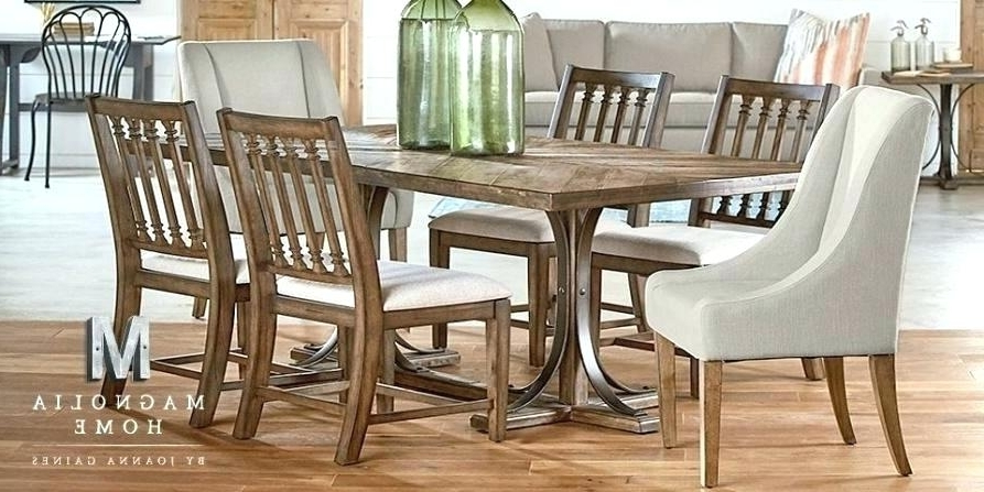 Magnolia Home Method Mesh Back Side Chairs In Well Known Value City Furniture Magnolia Home Dining Room Tables Interior (View 13 of 20)