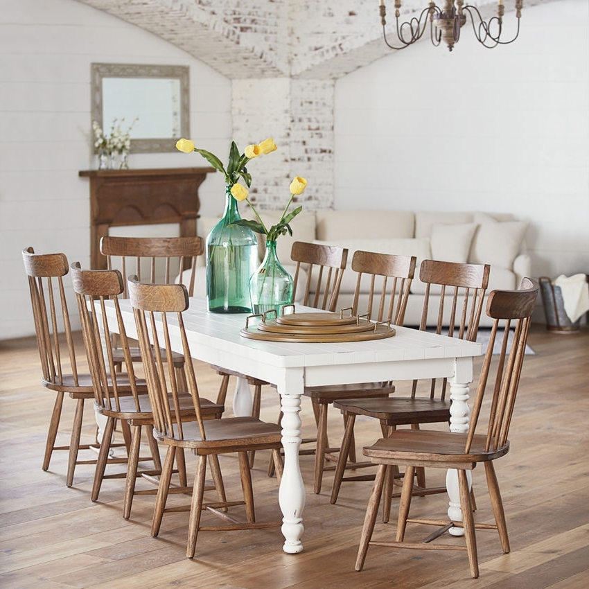 Magnolia Home Molded Shell Saddle Side Chairs Inside Most Recent Dining – Furniture – Mayo's Furniture & Flooring, Vermont (View 14 of 20)