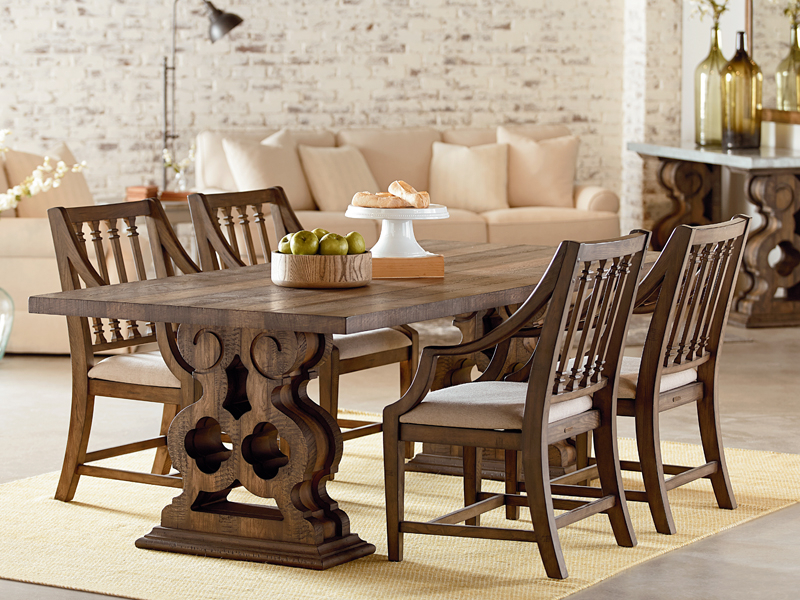 Magnolia Home Prairie Dining Tables With Regard To Latest Traditional Double Pedestal Tablemagnolia Home (View 9 of 20)