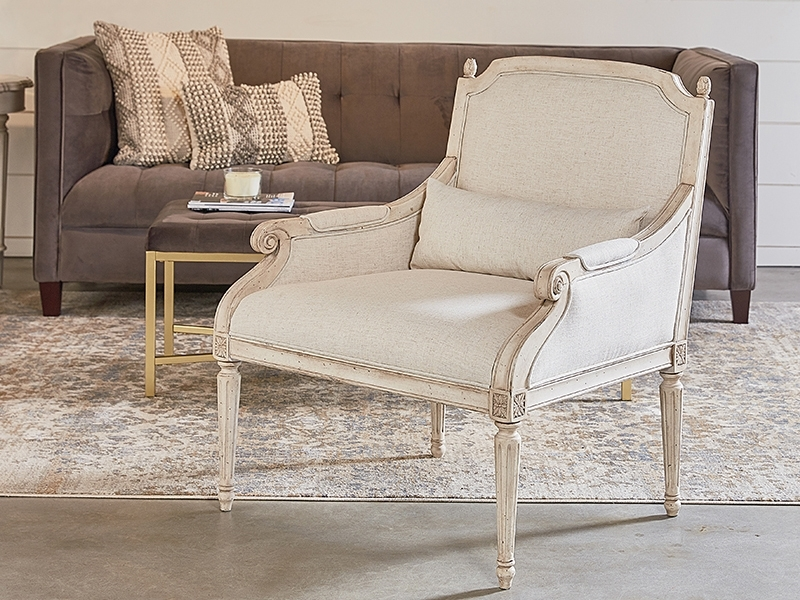 Magnolia Home Revival Jo's White Arm Chairs Regarding 2017 Traditional Cambridge Accent Chairmagnolia Home (View 12 of 20)