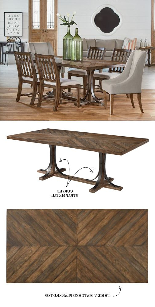 Magnolia Home Shop Floor Dining Tables With Iron Trestle Within Latest Introducing Magnolia Home Furniture – Part  (View 13 of 20)