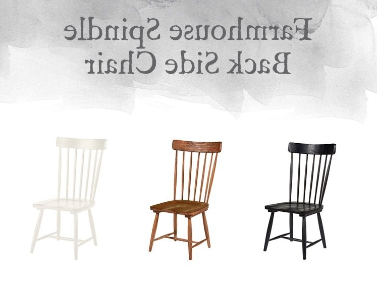 Magnolia Home Spindle Back Side Chairs Pertaining To 2017 Magnolia Home Preview: Farmhouse Collection (View 6 of 20)
