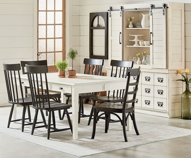 Magnolia Home Spindle Back Side Chairs Regarding Most Up To Date Magnolia Homejoanna Gaines Farmhouse Spindle Back Side Chair (View 7 of 20)