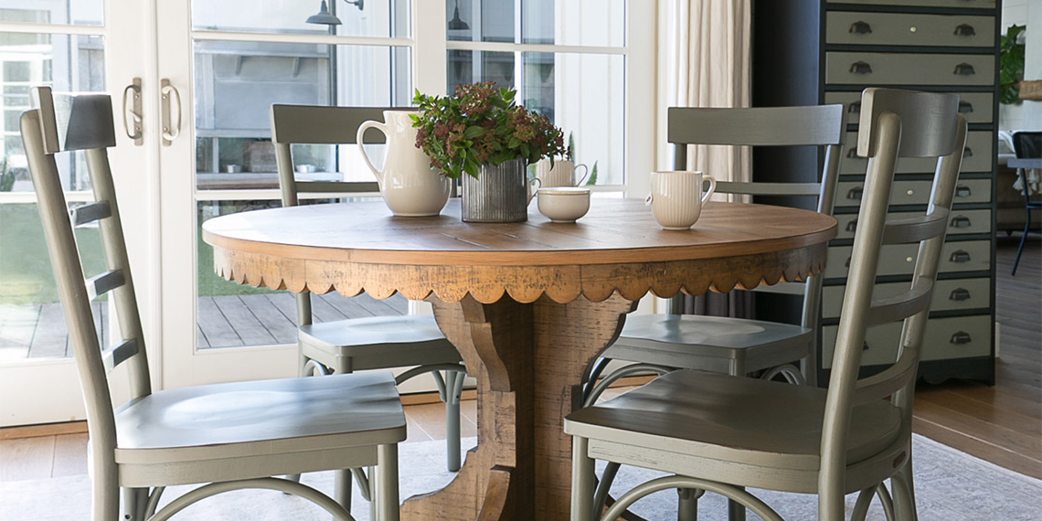 Magnolia Home Top Tier Round Dining Tables In Well Known Country/rustic Dining Room With Magnolia Home Top Tier Round Table (View 9 of 20)