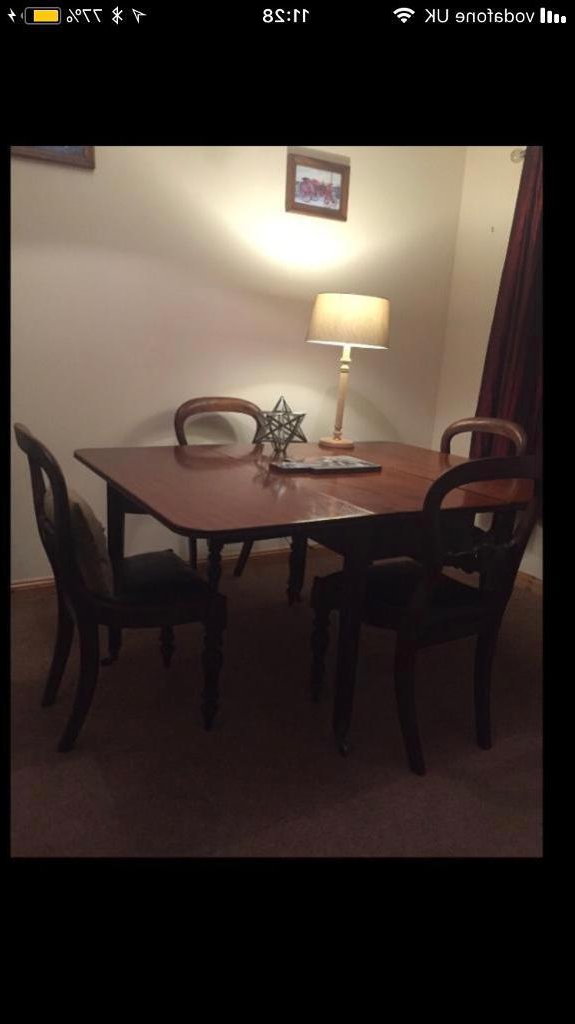 Mahogany Dining Table & 4 Chairs (View 8 of 20)