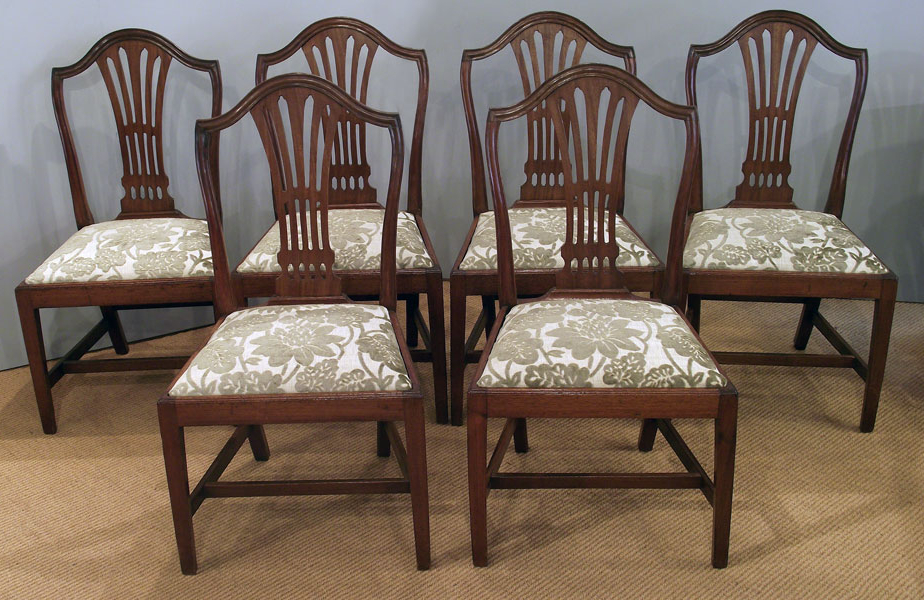 Mahogany Dining Table Sets Pertaining To Well Liked Set Of 6 Antique Mahogany Dining Chairs : Antique Dining Chairs (View 12 of 20)