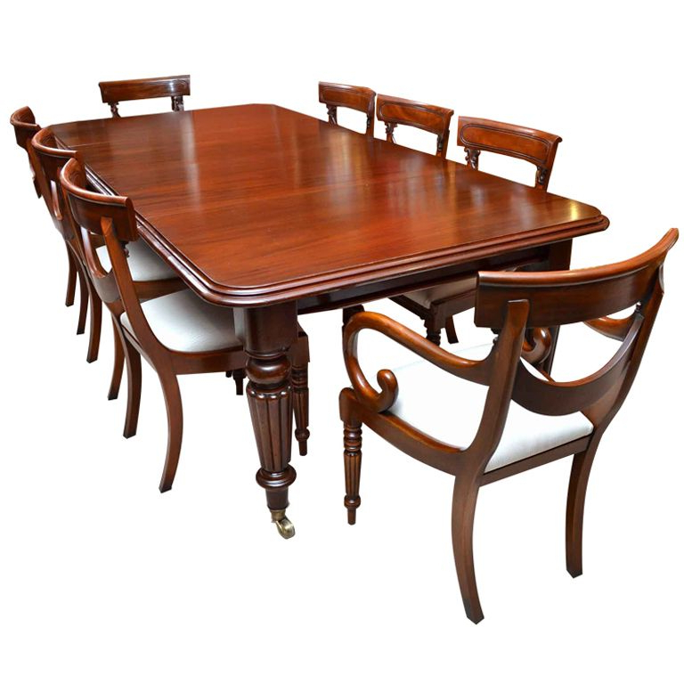 Mahogany Dining Table Sets Throughout Most Recent Antique Victorian 8 Ft Mahogany Dining Table And 8 Chairs In (View 5 of 20)