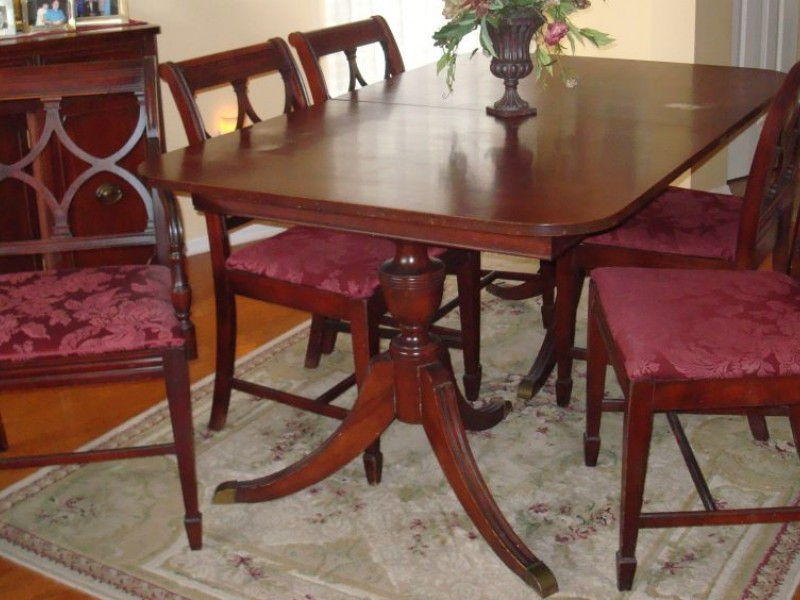 Mahogany Dining Tables And 4 Chairs With Regard To 2018 Duncan Phyfe Furniture: The Real Vs (View 13 of 20)