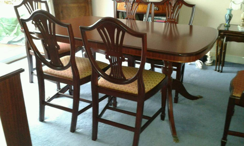 Mahogany Extending Dining Tables Throughout Widely Used Stag Sheridan Mahogany Extending Dining Table With 6 Chairs (View 17 of 20)
