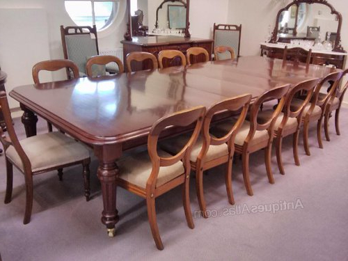 Mahogany Extending Dining Tables Within Well Known Large 19Thc Mahogany Extending Dining Table – Antiques Atlas (View 14 of 20)