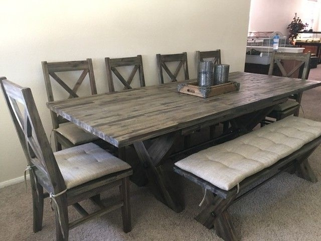 Mallard Side Chairs With Cushion In Latest Mallard 6 Piece Extension Dining Set (View 2 of 20)