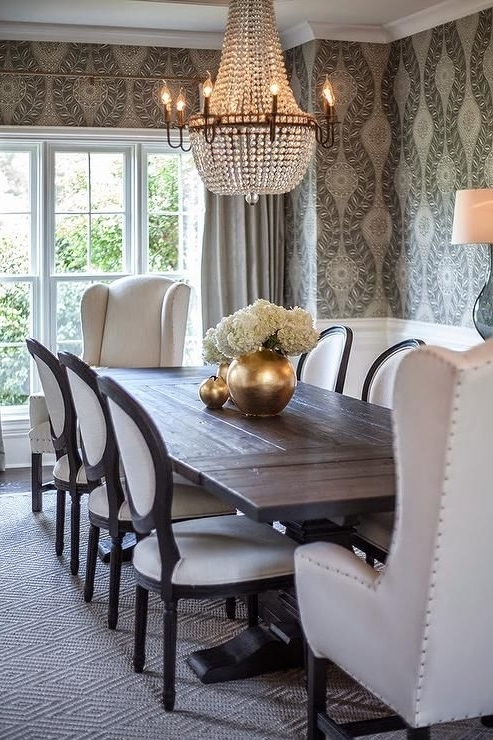 Mandy Paper White Side Chairs For Most Up To Date Black Salvaged Wood Dining Table, Restoration Hardware Salvaged Wood (View 10 of 20)