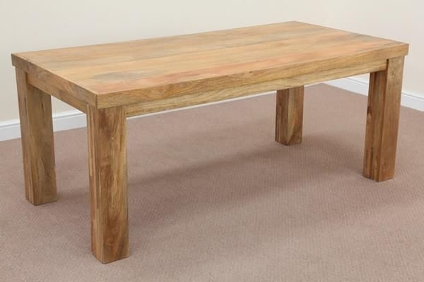 Mantis Light Natural Solid Mango 6Ft X 3Ft Dining Table (View 10 of 20)