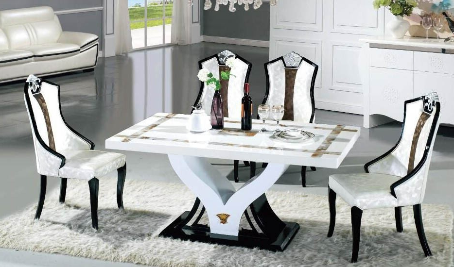 Marble Dining Dining Table Set In Sydney Warehouse Within Most Up To Date Marble Dining Chairs (Gallery 17 of 20)