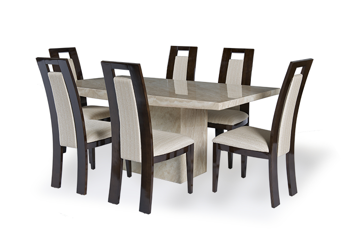 Marble Dining Tables Sets In Most Recent Cream Marble Dining Table Set – Allied Home Interiors (View 12 of 20)