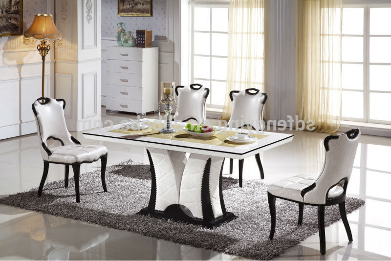 Marble Dining Tables Sets Within 2017 Italian Modern Marble Dining Tables Set Buy Marble Top, Marble Table (View 15 of 20)