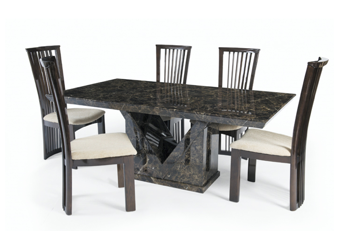 Marble Effect Dining Tables And Chairs Inside Preferred 6 Dining Chairs (View 12 of 20)