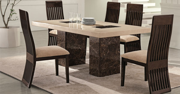 Marble Furniture: Dining Table Furniture Online – Cfs Uk With Regard To Most Popular Marble Dining Chairs (View 7 of 20)