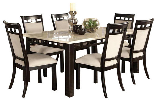 Marble Top Dining Table Set, Italian Dining Table – Furniture Pride In Most Popular Dining Table Sets (View 18 of 20)