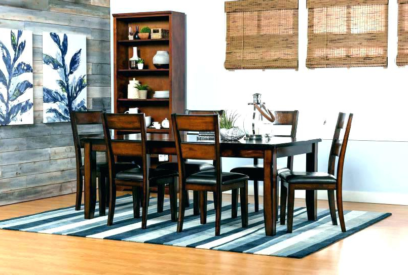 Marvelous Ideas Living Spaces Dining Room Tables Norwood 9 Piece With Regard To Most Popular Norwood 9 Piece Rectangular Extension Dining Sets With Uph Side Chairs (View 8 of 20)