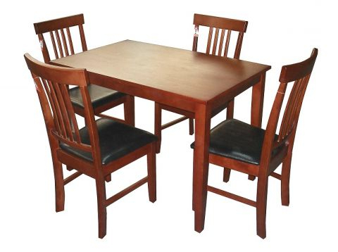 Massa Solid Rubberwood Dining Table In Mahogany With 4 Or 6 Chairs. Pertaining To Current Mahogany Dining Tables And 4 Chairs (Gallery 20 of 20)