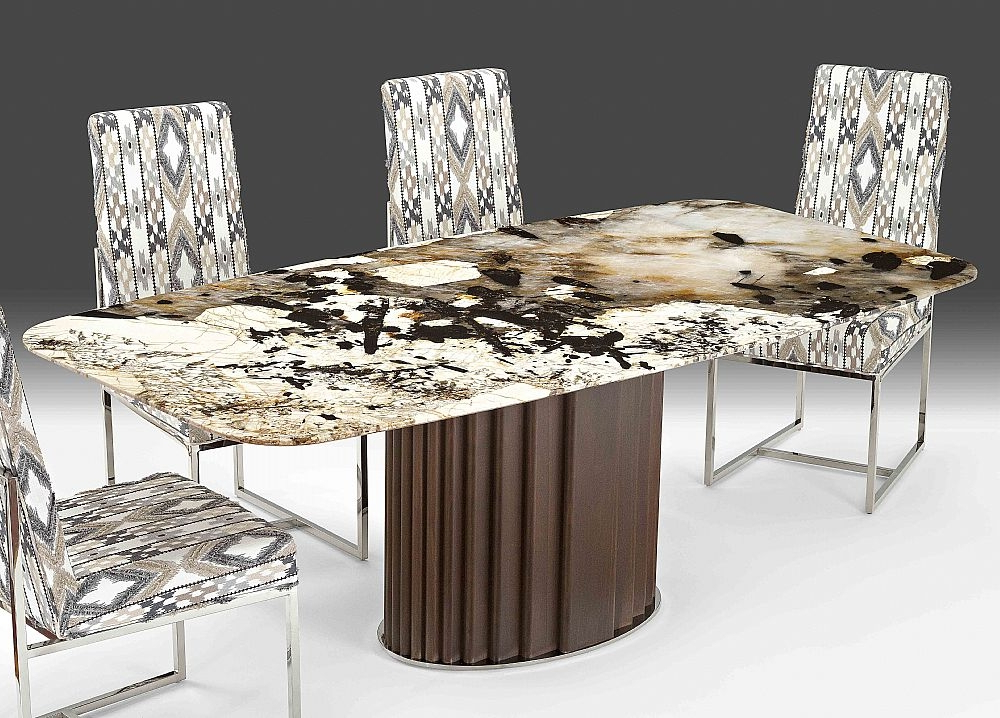 Mayfair Dining Tables Intended For 2017 Buy Stone International Mayfair Marble Rounded Corner Dining Table (View 11 of 20)