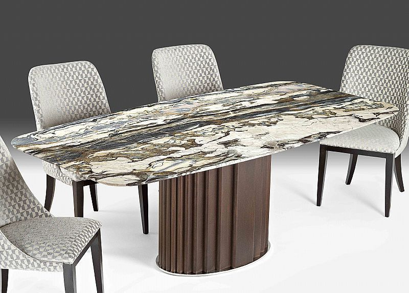 Mayfair Dining Tables With Regard To Latest Contemporary Dining Table / Wooden / Marble / Rectangular – Mayfair (View 12 of 20)