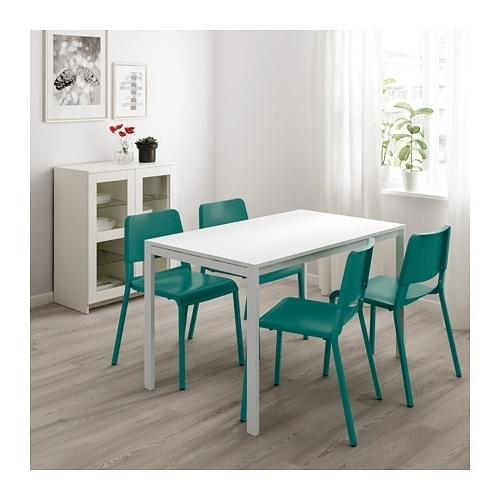 Melltorp Table White 125 X 75 Cm – Ikea Within Trendy Mandy Paper White Side Chairs (View 15 of 20)
