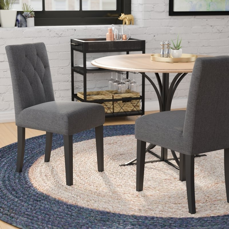 Mercury Row Balas Upholstered Dining Side Chair & Reviews (View 2 of 20)