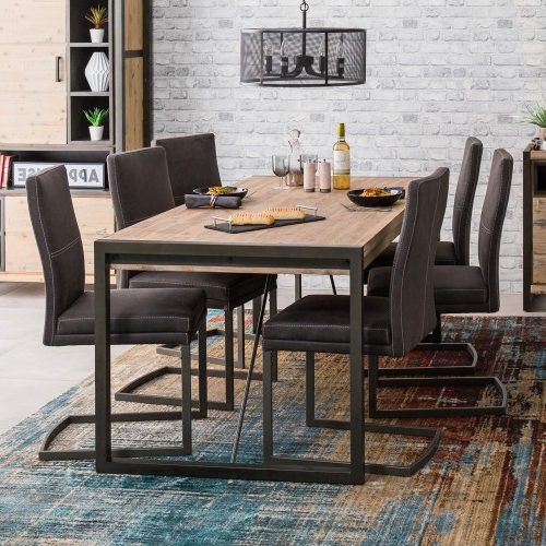 Metro Dining Tables In Trendy Metro Dining Table & 6 Chairs (View 8 of 20)