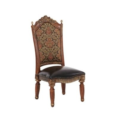Michael Amini Dining Seating Villa Valencia 72003 55 Side Chair For Preferred Valencia Side Chairs With Upholstered Seat (View 11 of 20)