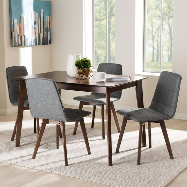 Mid Century 5 Piece Dining Setbaxton Studio – Free Shipping Intended For 2017 Caden 5 Piece Round Dining Sets With Upholstered Side Chairs (View 6 of 20)