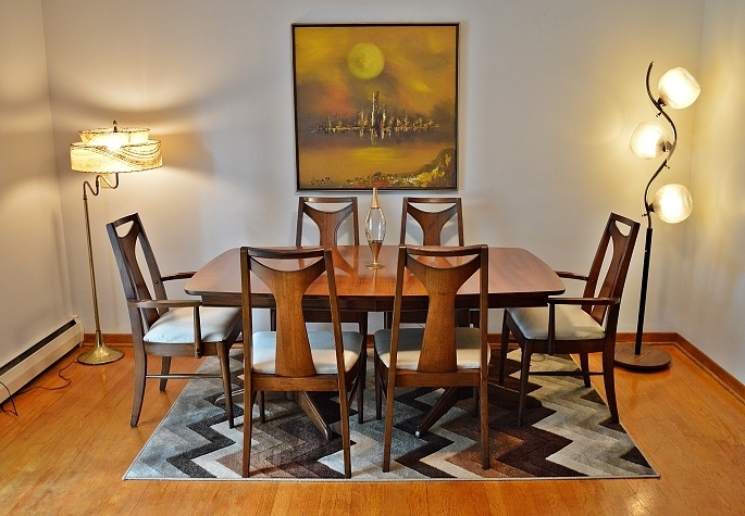 "Mid Century Kent Coffey ""perspecta"" Dining Table With 6 Chairs Regarding Most Popular Kent Dining Chairs (View 17 of 20)"
