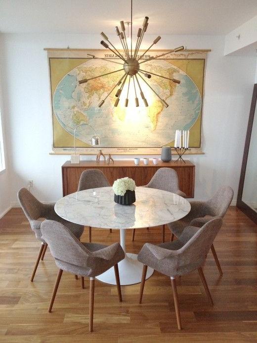 Mid Century Mod Regarding Lassen Round Dining Tables (View 13 of 20)