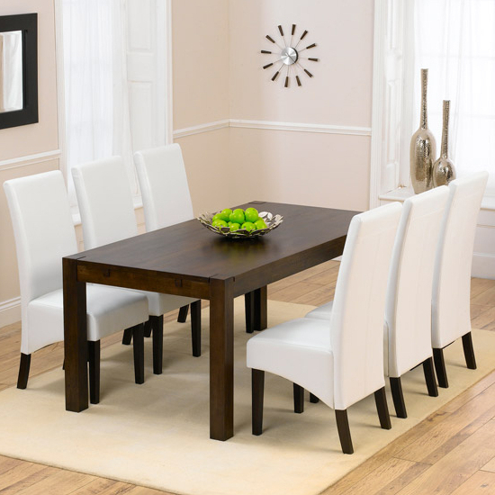 Milan Dark Oak Dining Table And 6 Verona Dining Chairs Pertaining To Most Popular Verona Dining Tables (View 5 of 20)