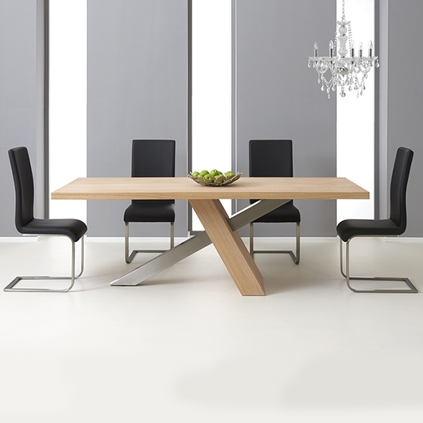 Milano Solid Oak 180Cm Dining Table With 6 Milan Chairs – Robson For Well Liked 180Cm Dining Tables (View 11 of 20)