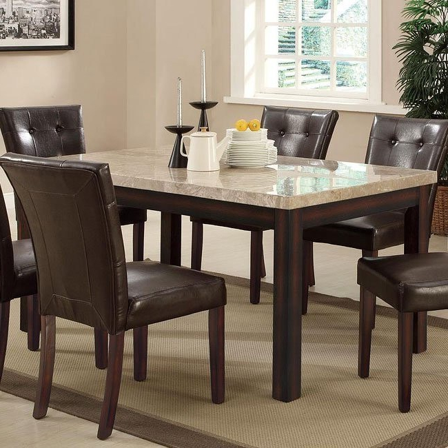 Milton Dining Tables Regarding Current Milton Rectangular Dining Table W/ Light Marble Top Coaster (View 17 of 20)