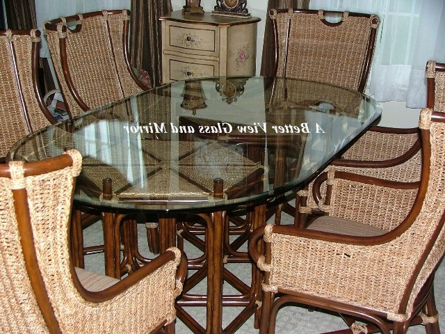 Mirror Glass Dining Tables With Regard To Well Liked Beveled Glass Table Tops,pre Cut Glass Table Tops,decorative Wave (View 11 of 20)