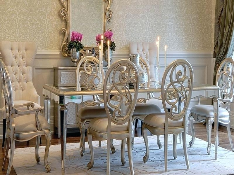 Mirrored Dining Room Table Mirror Glass Dining Table Glass Mirror With Widely Used Antique Mirror Dining Tables (View 14 of 20)