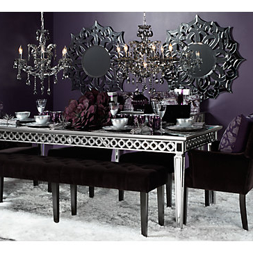 Mirrored Dining Tables In Trendy Sophie Mirrored Dining Table (View 4 of 20)