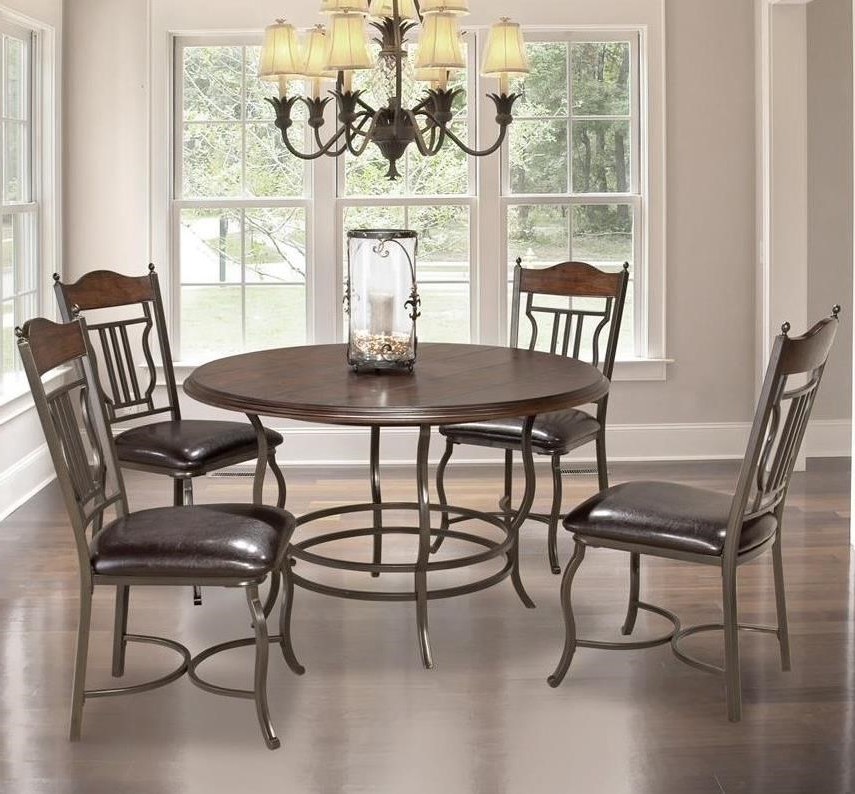 Miskelly Pertaining To Best And Newest Jaxon 5 Piece Round Dining Sets With Upholstered Chairs (View 13 of 20)