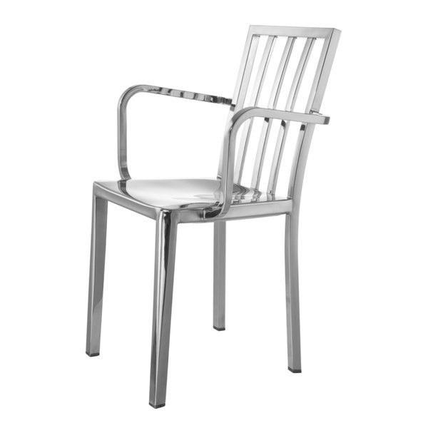 Mod Ii Arm Chairs Intended For Well Known Shop Fine Mod Imports Eve Steel Dining Arm Chair, Silver – Free (View 7 of 20)
