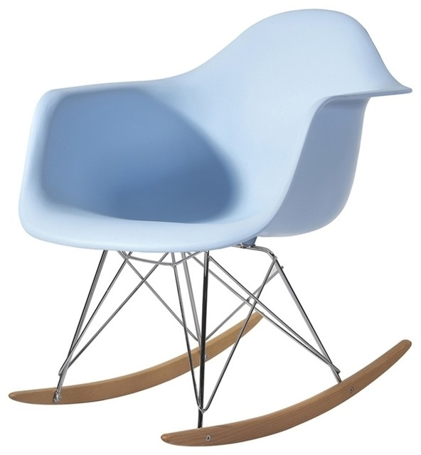 Mod Ii Arm Chairs Pertaining To Most Current Fine Mod Imports Rocker Arm Chair, Light Blue – Modern – Rocking (View 17 of 20)