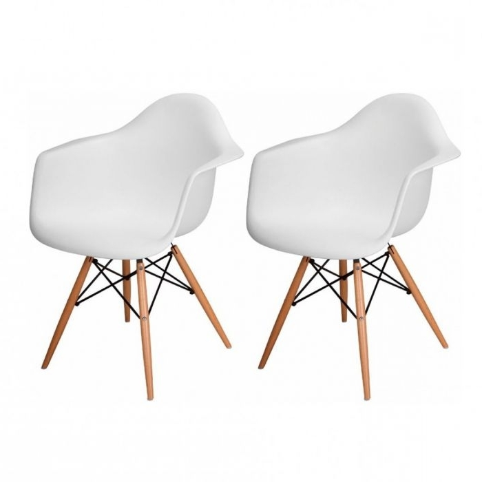 Mod Ii Arm Chairs Regarding Most Up To Date Mod Made Mm Pc 018W White Paris Tower White Arm Chairs Set Of  (View 9 of 20)