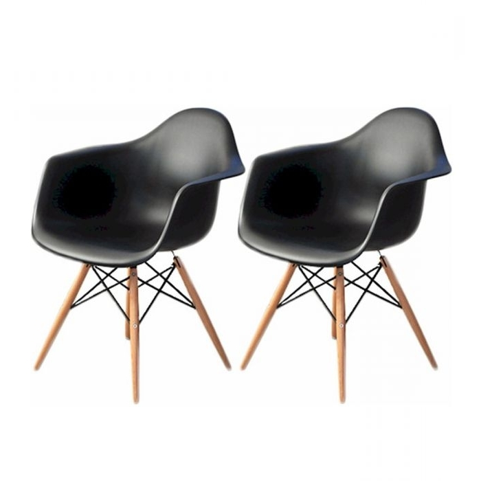 Mod Made Mm Pc 018W Black Paris Tower Black Arm Chairs Set Of 2 Pertaining To Most Current Mod Ii Arm Chairs (View 11 of 20)