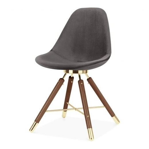 Moda Grey Side Chairs In Most Current Cult Design Moda Velvet Upholstered Dining Chair Cd5, Grey (View 15 of 20)