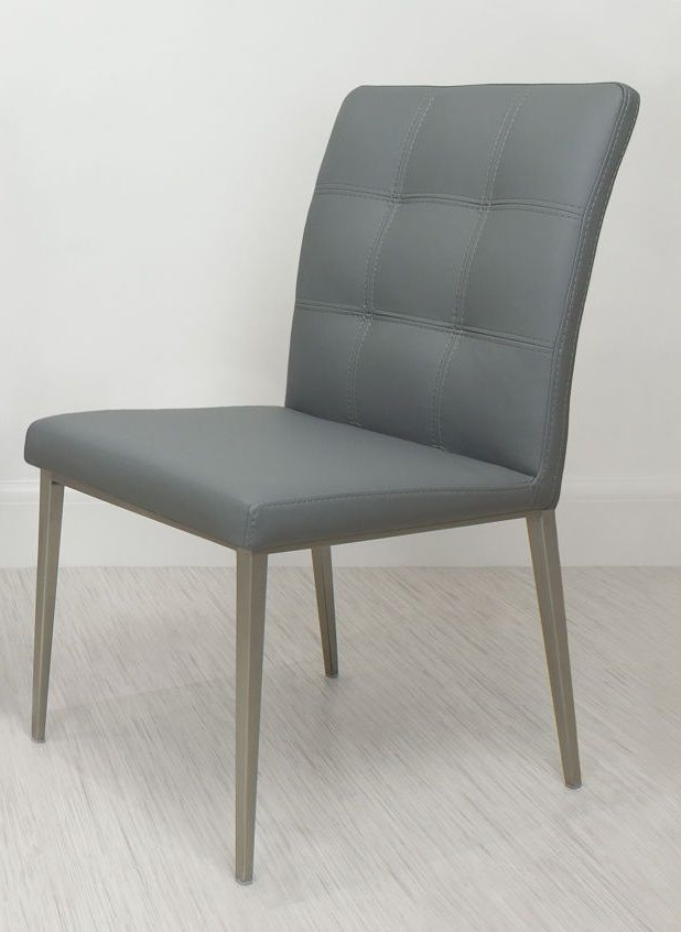 Moda Grey Side Chairs Within Famous Moda Dining Chair In Stone Grey From Danetti (View 6 of 20)