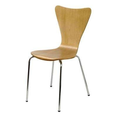 Modern – Brown – Wood – Dining Chairs – Kitchen & Dining Room Inside Popular Plywood & Metal Brown Dining Chairs (View 15 of 20)